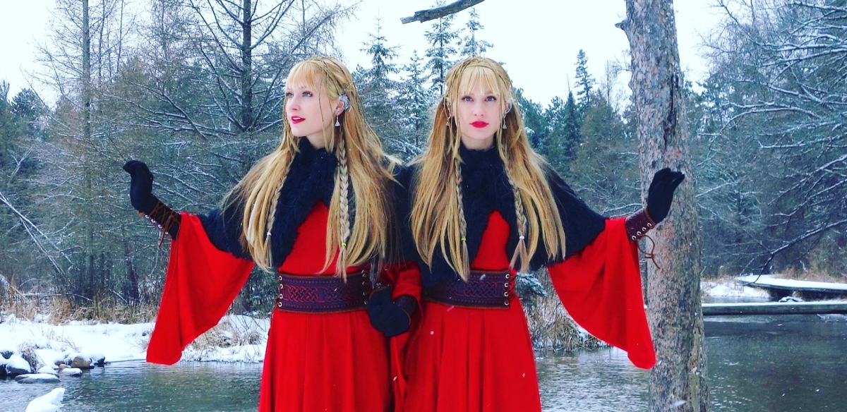 The Harp twins Camille and Kennerly perform a variety of music on the harps