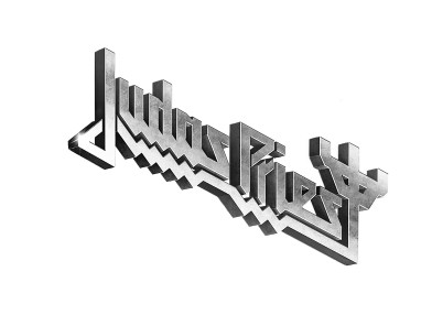 Judas Priest - Firepower logo silver